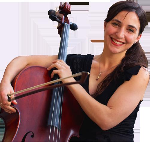 Cellist on white bkg