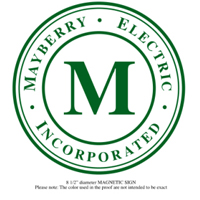 Mayberry Electric Ad - Bronze