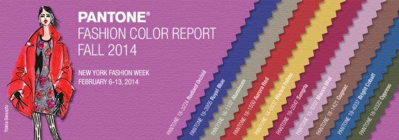 Pantone Fall 2014 Fashion Color Forecast