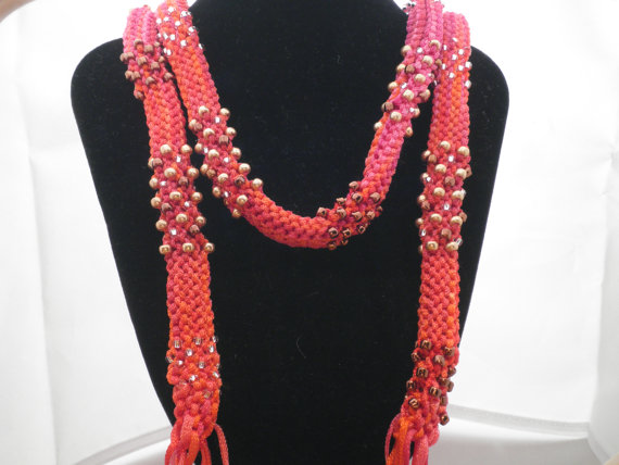 Summer Fruit Rope Necklace