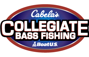 Cabela's Collegiate Bass Fishing Series_White letters