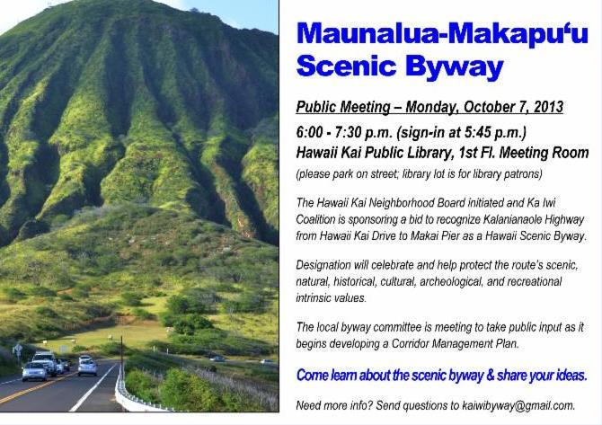 Maunalua Meeting Flyer