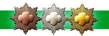 Three National Award pins