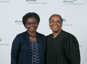 lorna Brown-Burton and Judge Robinson