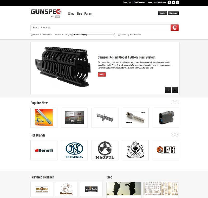 GunSpec Homepage