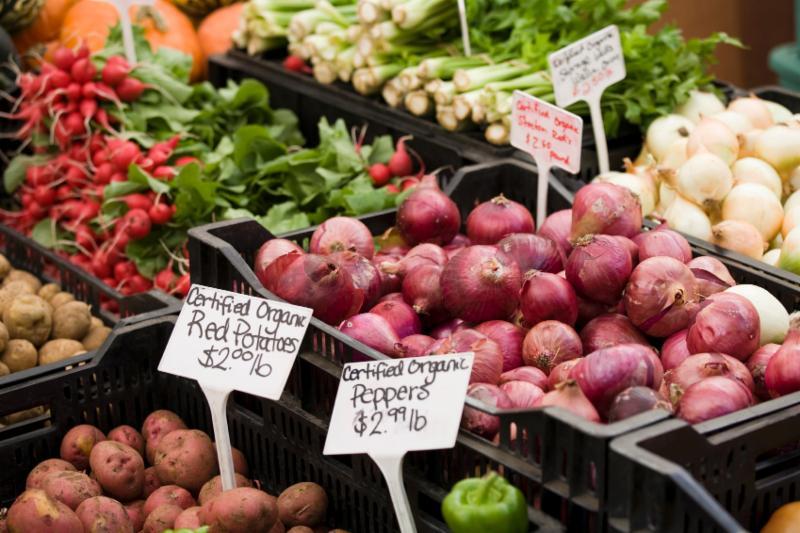 Vegetables onion radish potato Farmers market Marketing