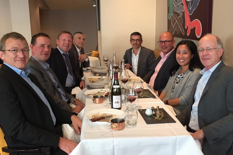 Ouest France and Agora lunch with ACS.