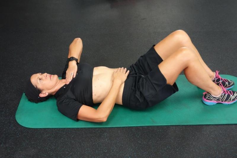 Janet doing diaphragm proprioception