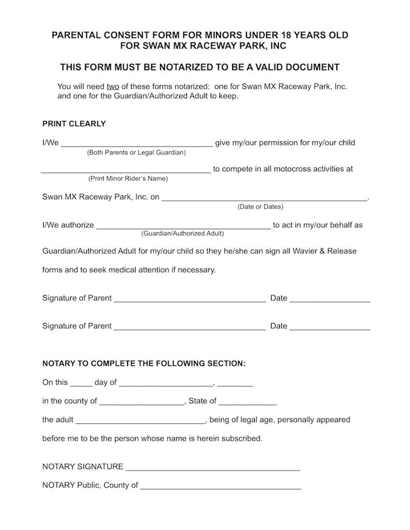 Minor Release Form