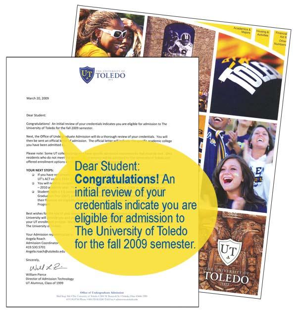 University of Toledo Letter