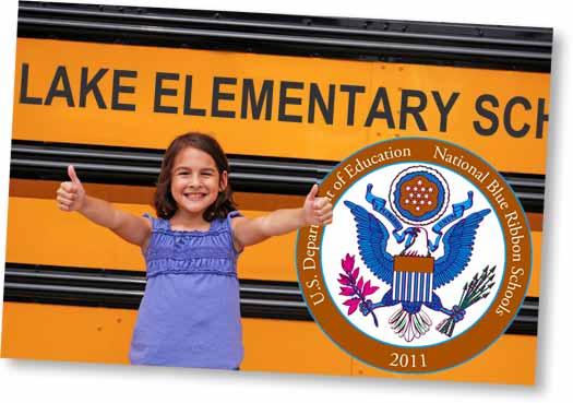 Elmentary School Girl in Front of Bus