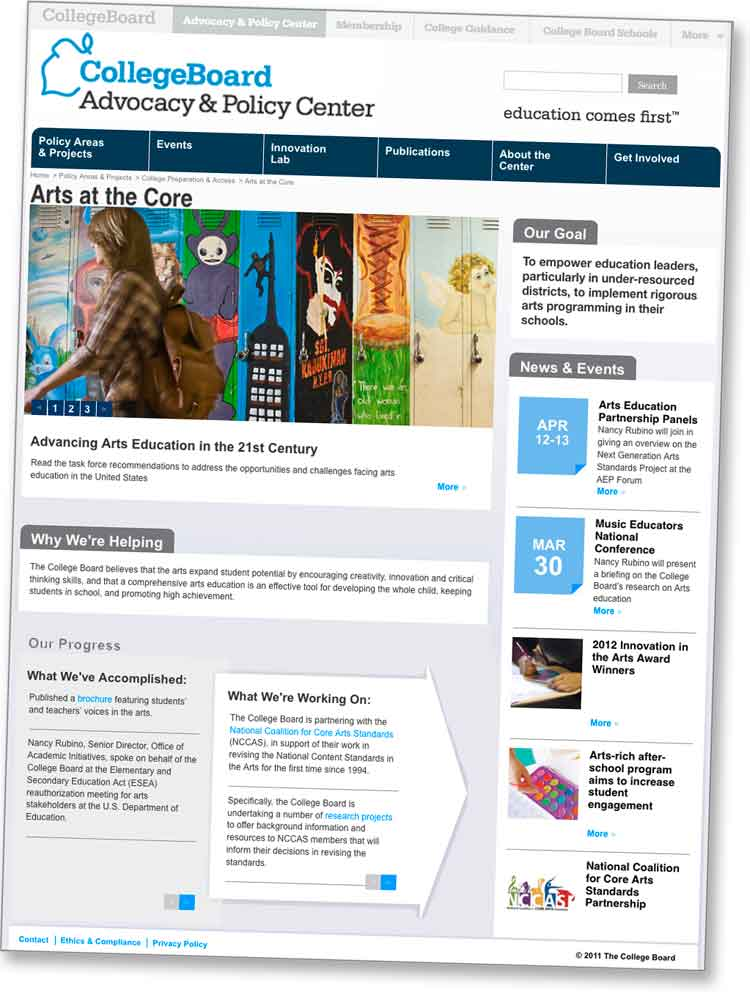 College Board - Arts at the Core