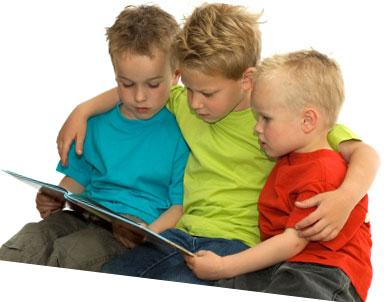 3 Boys Reading