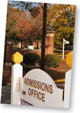 University Admissions Sign