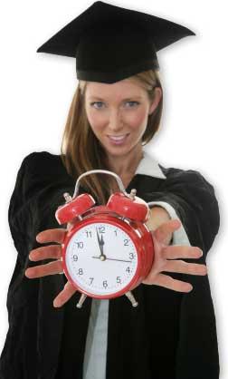 Grad Holding Clock