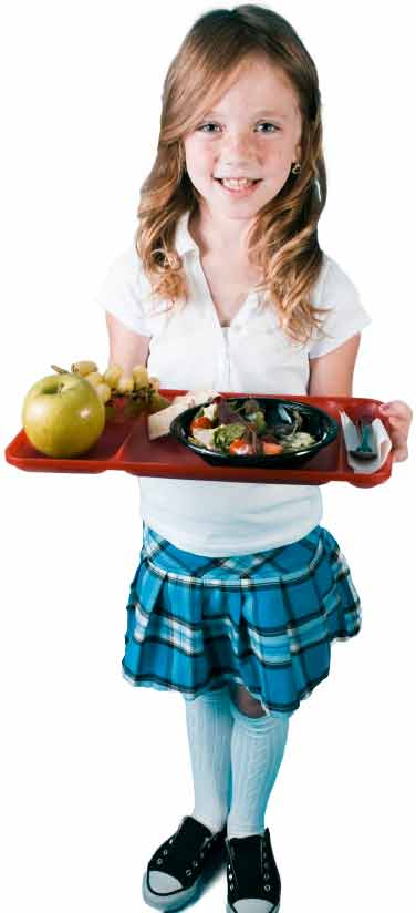 Girl with Healthy Lunch