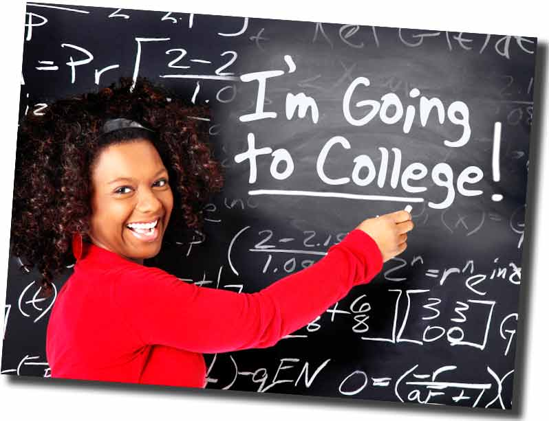 "Girl with ""Im Going to College"" Message"