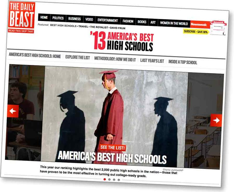 Newsweek America's Best High Schools 2013
