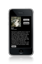 iphone wild wolf text