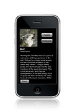 iphone wild wolf text