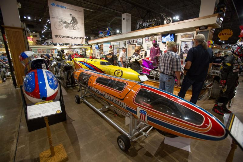 Streamliners Exhibit at the National Motorcycle Museum