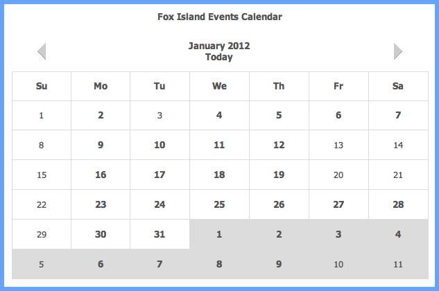 Jan 2012 Calendar