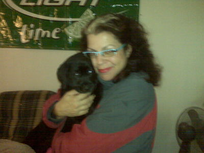 Gina with Mack, the new puppy