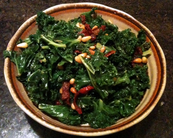 kale with sundried tomatoes