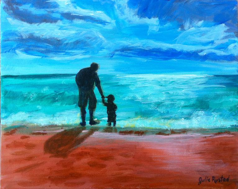 Siesta Key Sunday Painting by Julie Rustad