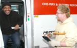 Paul Jerovic and customer