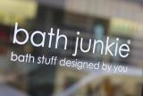 Bath Junkie Window Sign