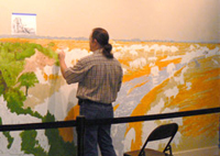 Lee Jamison painting mural