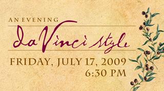 evening da vinci style logo