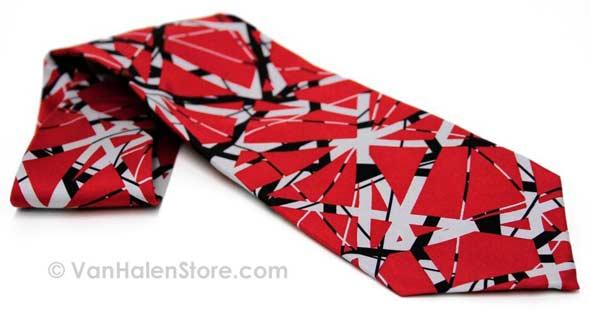 EVH Red Silk Necktie