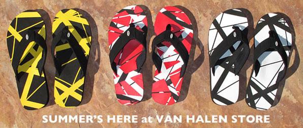 3f405775f02ddd EVH Frankenstein Striped Flip Flops Available For Summer