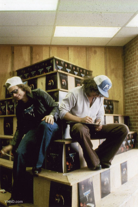 Van Halen record in-store appearance 1978