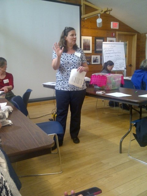 Sue Cagle presents at the March workshop
