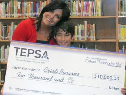 2013 NDP Cristi Parsons was awarded $10,000 courtesy of Mentoring Minds.