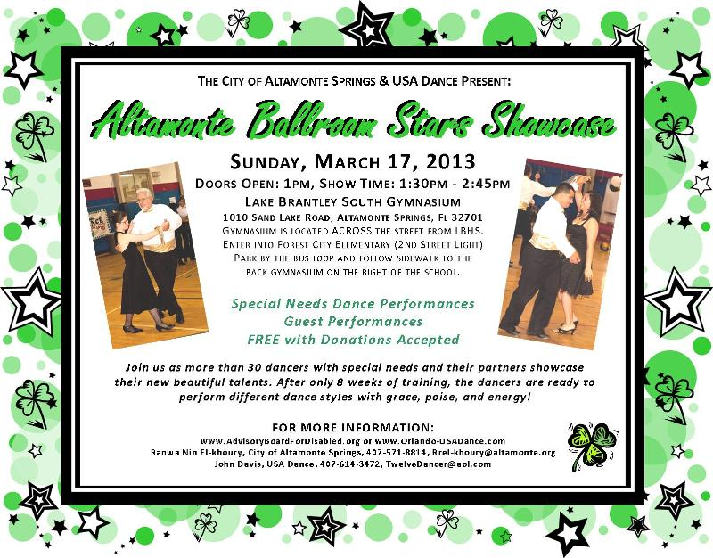 March 2013 E News From Altamonte Springs Special Needs