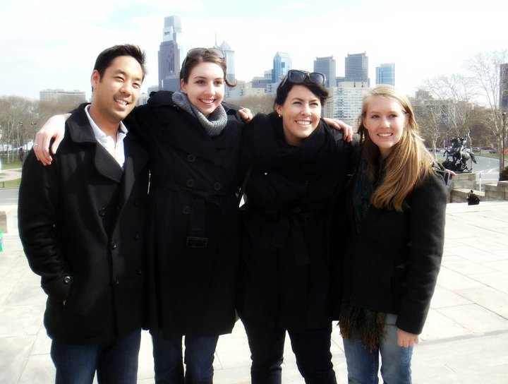 Nicholas Kajimoto '11, Sara Christovich '11, Christina Wellhouser '11, and Jaclyn Miller '12