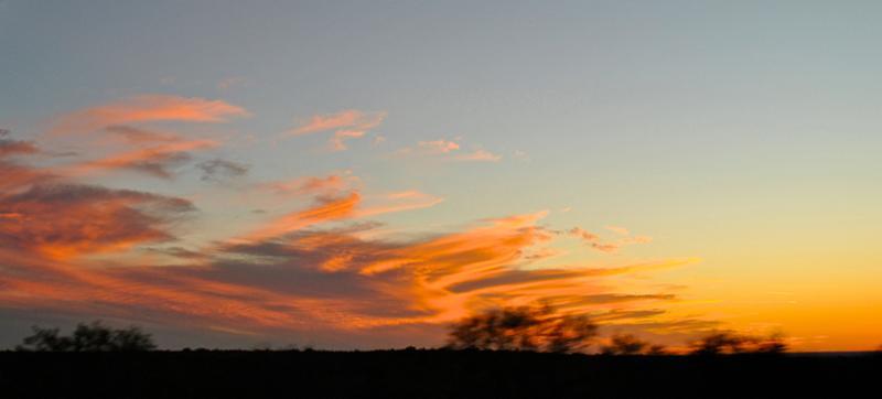 Brush Country sunset_ US 83 south of Catarina