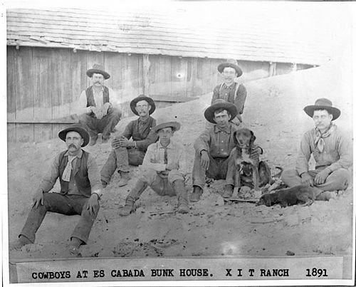 Cowboys at the XIT Ranch in 1891 (Wikipedia)