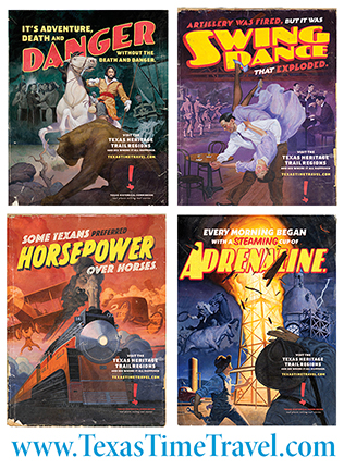 Texas Time Travel posters