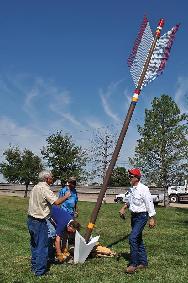 Quanah Parker Trail arrow installation