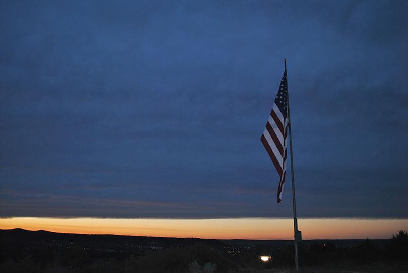 Flag overlooking Junction_ Texas