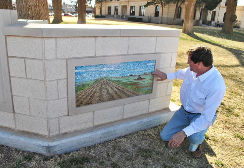 John Hope and Levelland mosaic