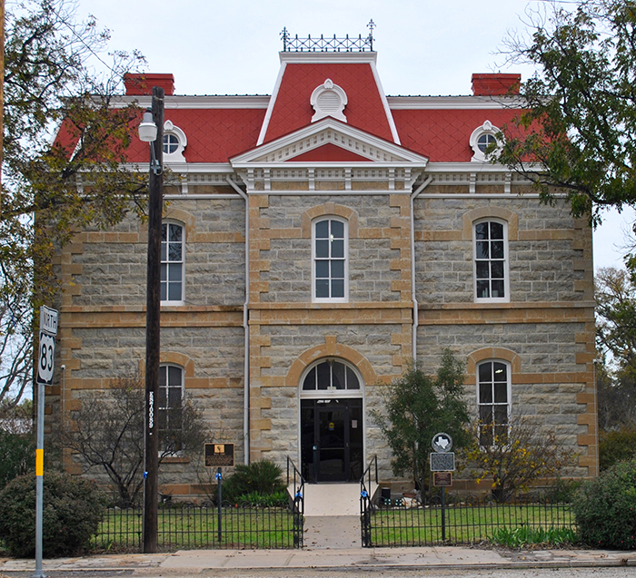 Concho County courthouse_ Paint Rock