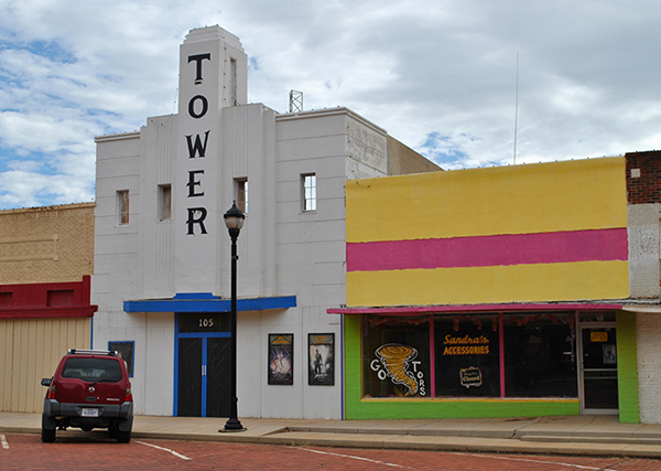 Lamesa's Tower Theatre, on the square