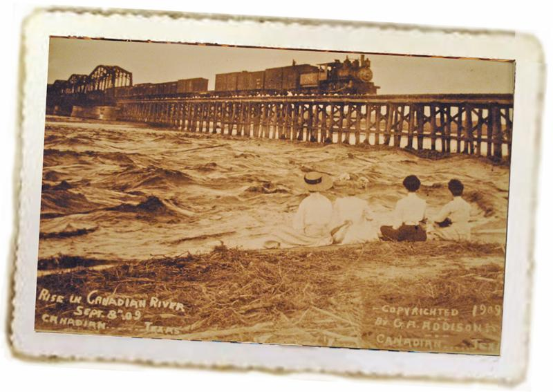 High water on the Canadian River, Sept. 8, 1909