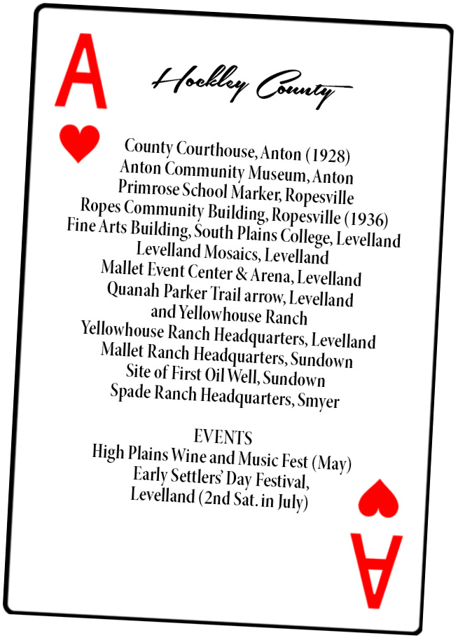 Hockley County card